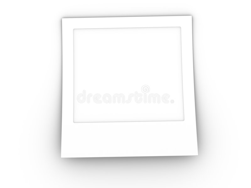 3d空白照片 向量例证