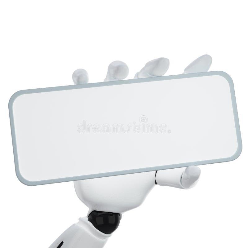 3d空白现有量暂挂机器人符号 向量例证