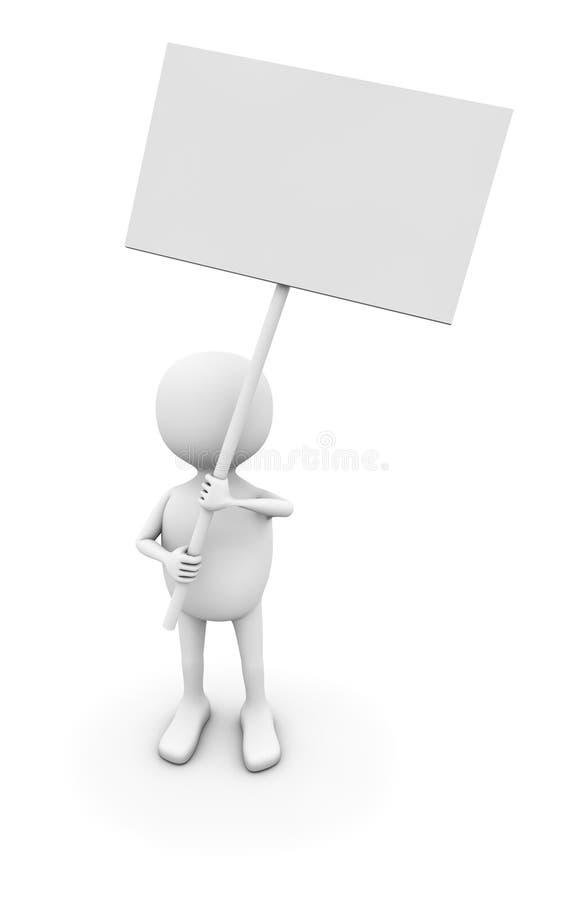 3d空白董事会人符号 皇族释放例证