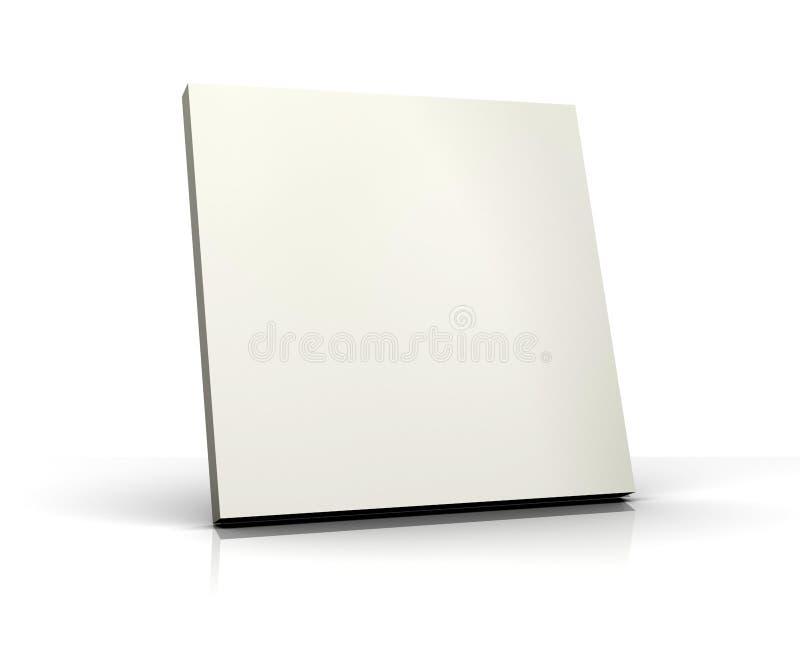 3d空白董事会查出的白色 库存照片