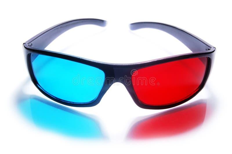 3d立体声彩色立体图玻璃 免版税库存照片