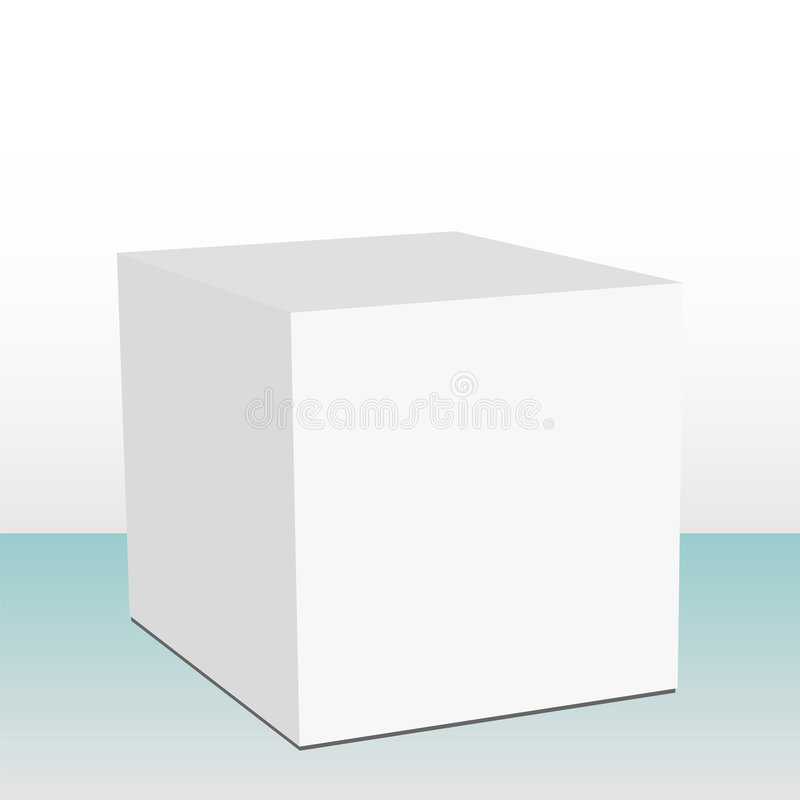 3d立方体的配件箱 向量例证