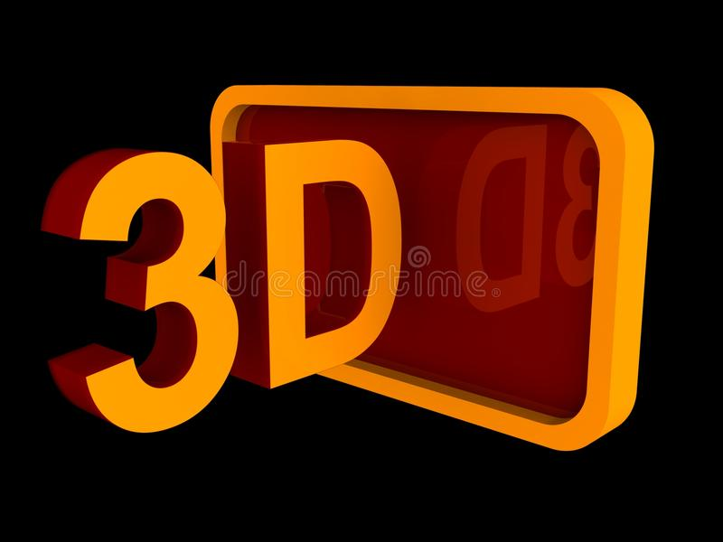 3d符号 皇族释放例证