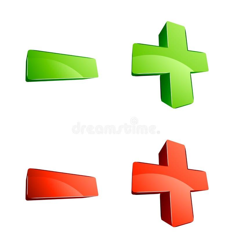 3d符号 向量例证