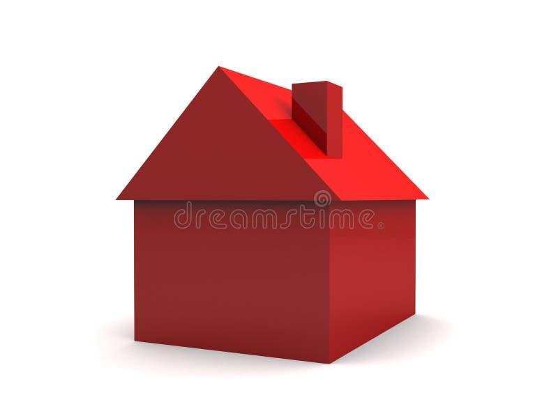 3d简单的房子 库存例证