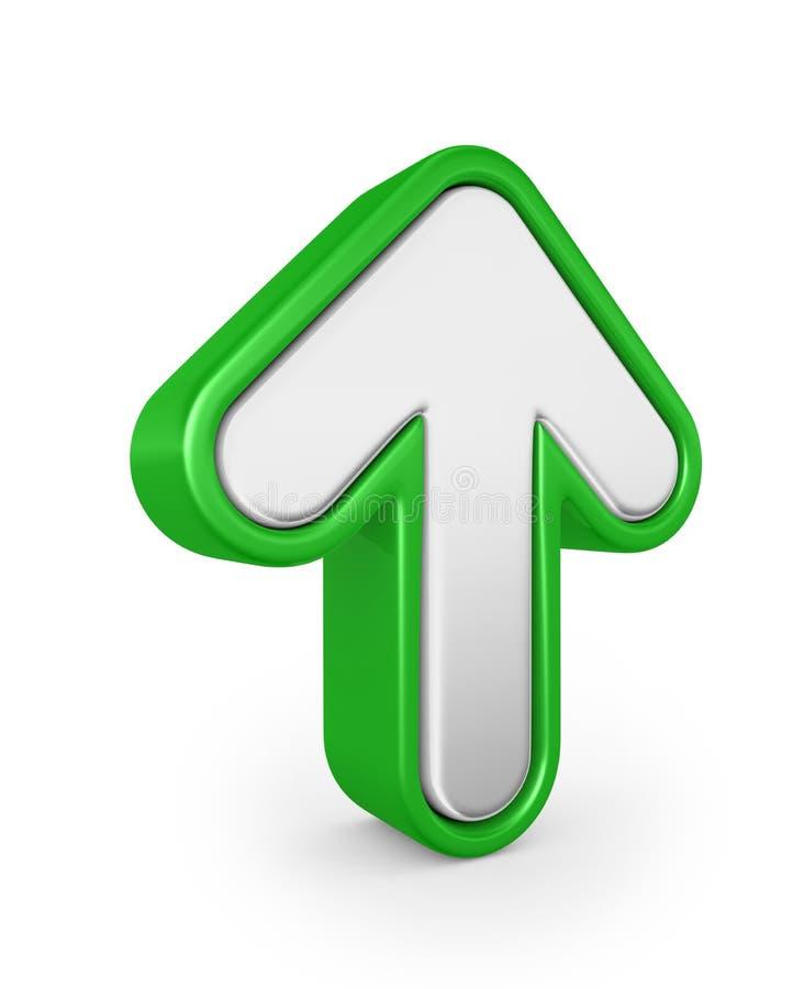 3d箭头绿色回报 免版税库存图片