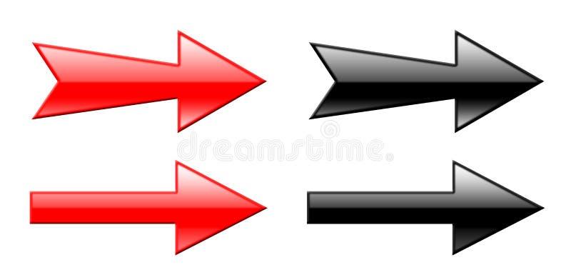 3d箭头 向量例证