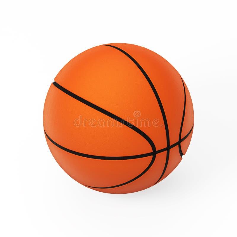 3d篮球查出的模型白色 向量例证
