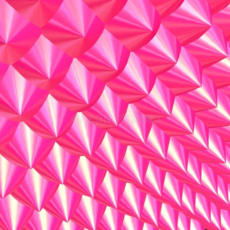 3d粉红色刺 向量例证