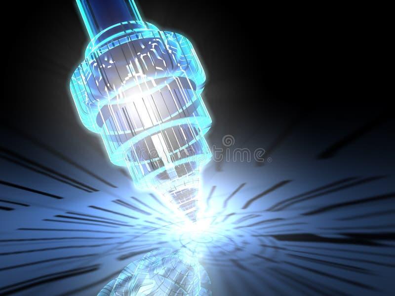 3d纳诺的显微镜 库存例证