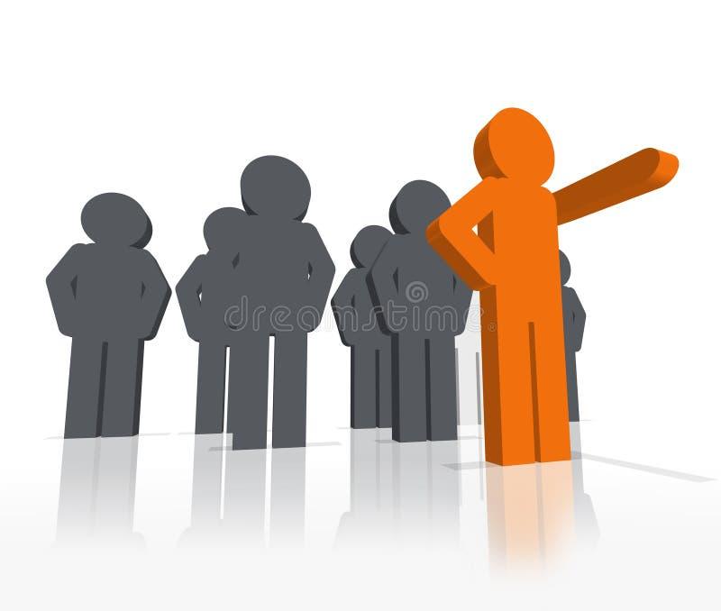 3d线索领导先锋杰出的事物方式 向量例证