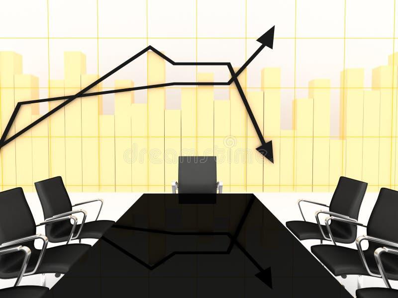 3d绘制会议财务空间图表 向量例证