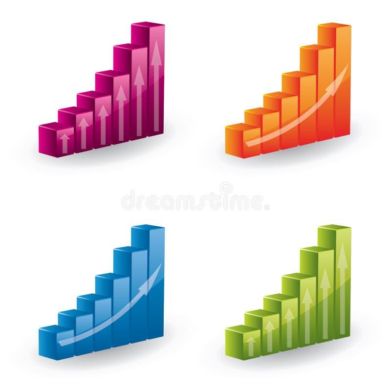 3d绘制图标被设置的向量 库存例证
