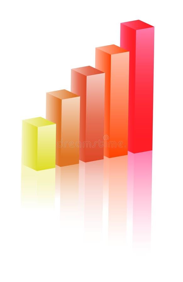 3d绘制增长 库存例证