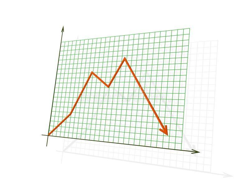 3d绘制损失红色陈列 向量例证