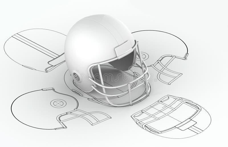 3d绘制盔甲设计图表 库存例证