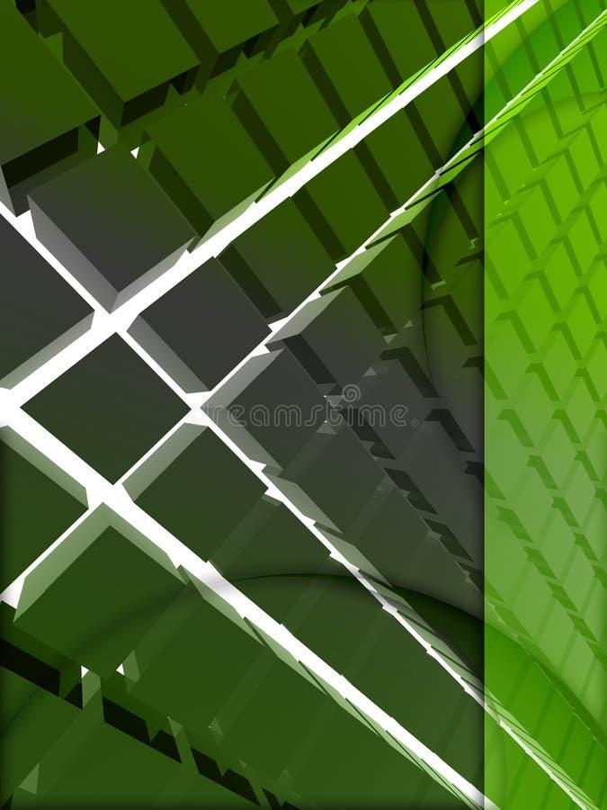 3d绿色格式 向量例证