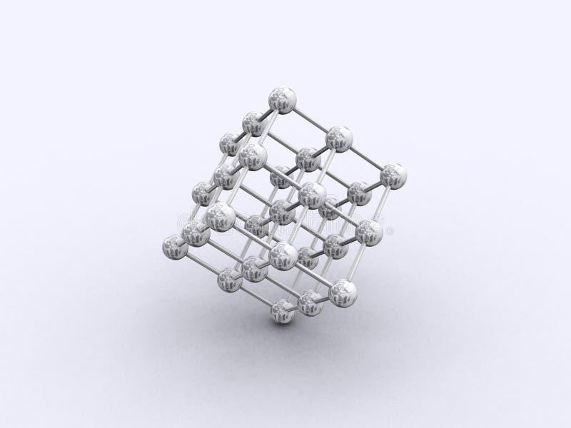 3d网格 向量例证