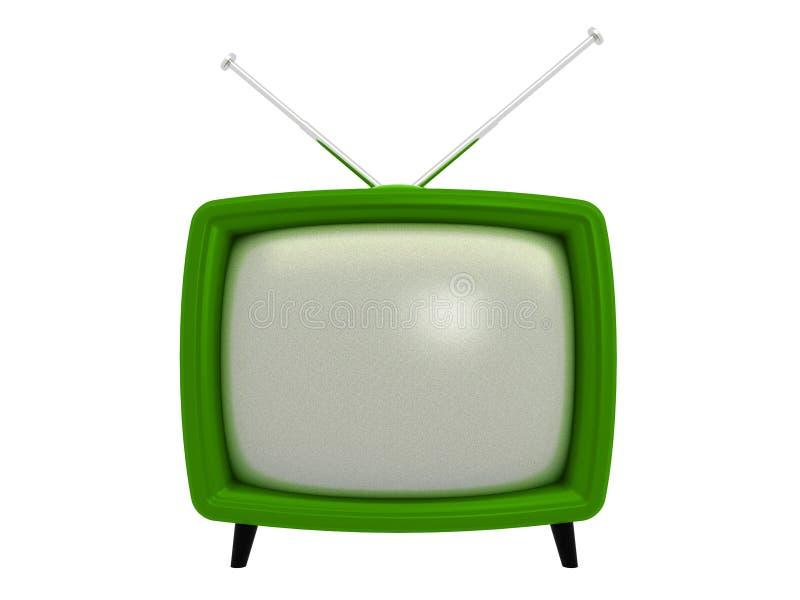 3d老电视 库存例证