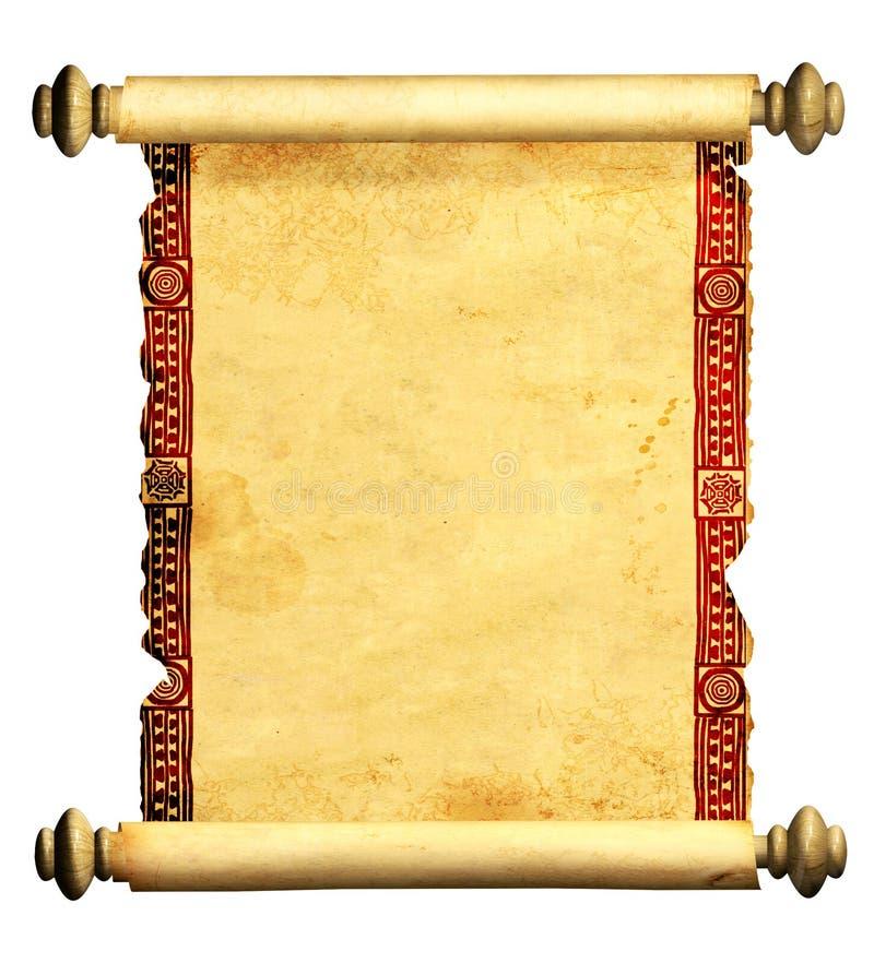 3d老羊皮纸滚动 皇族释放例证