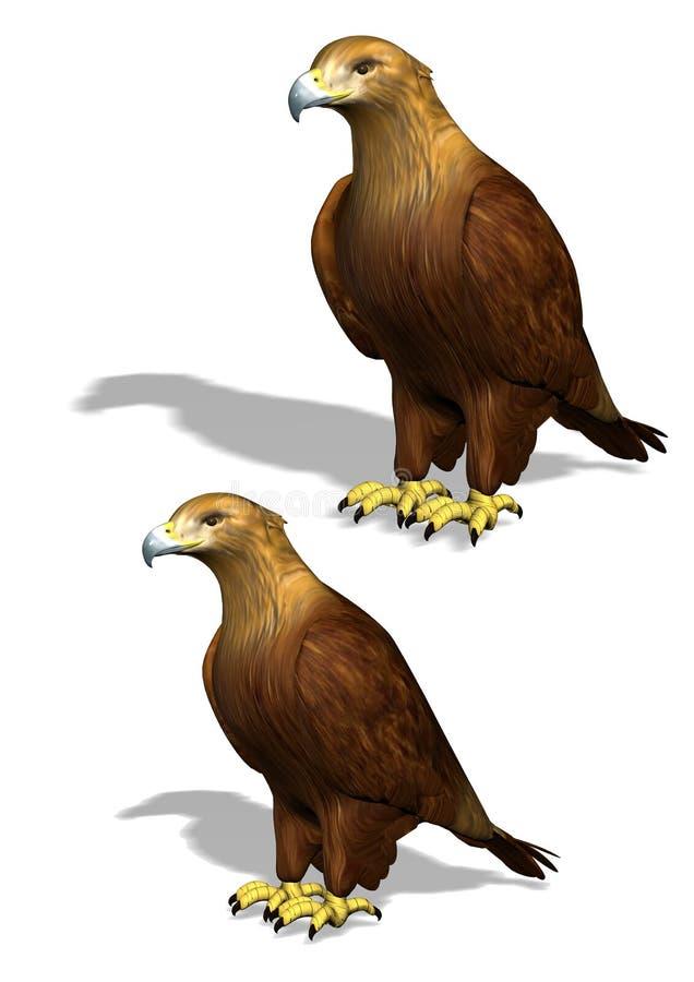 3D老鹰 皇族释放例证