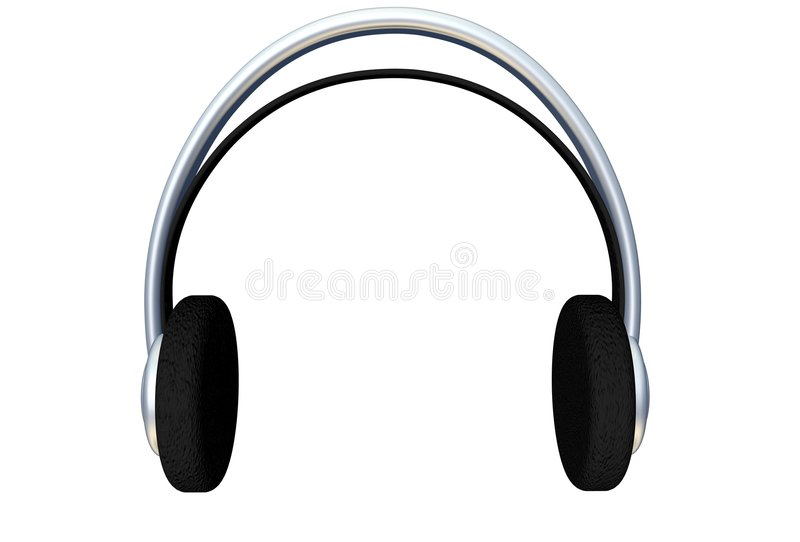 3d耳机 库存例证