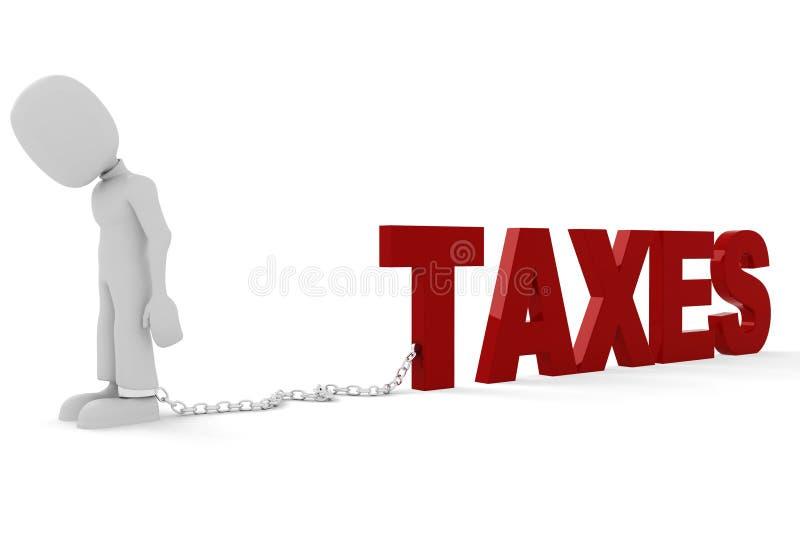 3d联邦税务局人与 库存例证