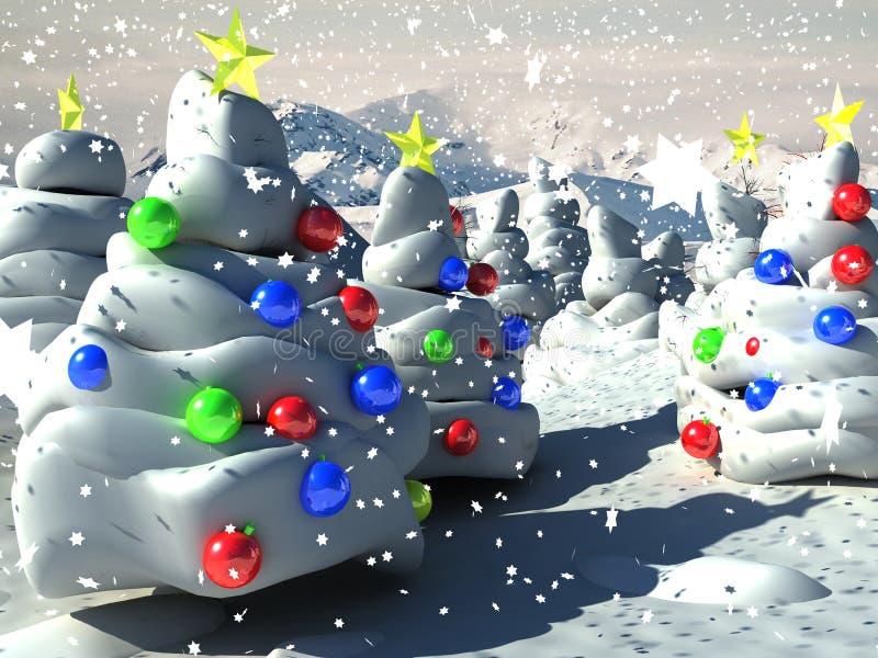 3d背景圣诞节 库存例证