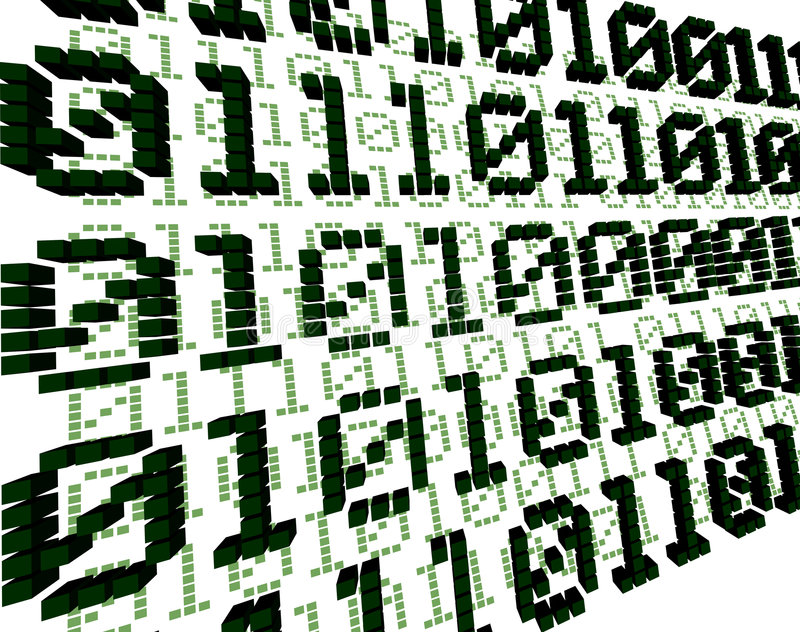 3d背景数字式绿色 向量例证