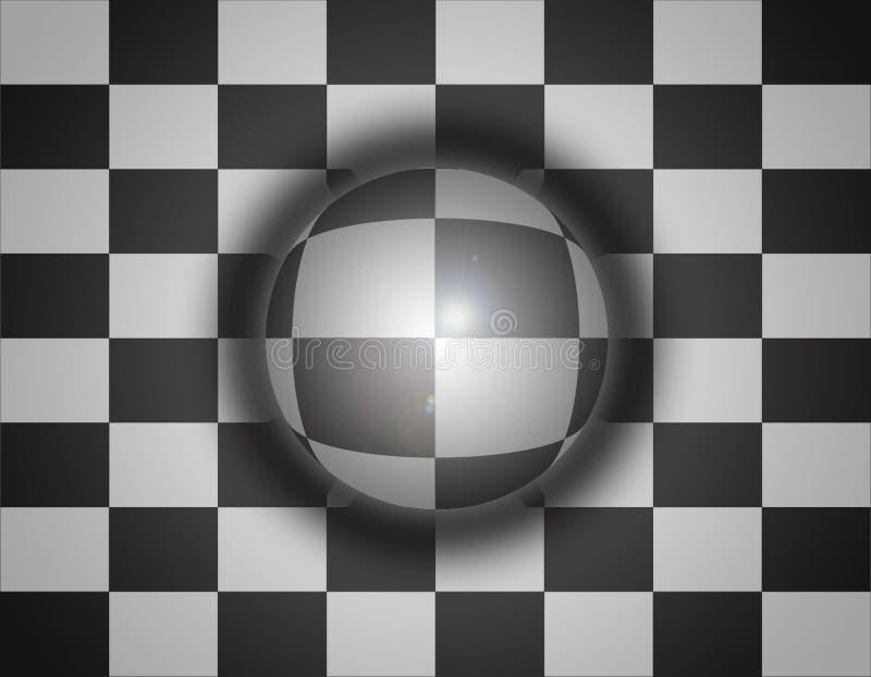 3d背景棋范围 库存例证