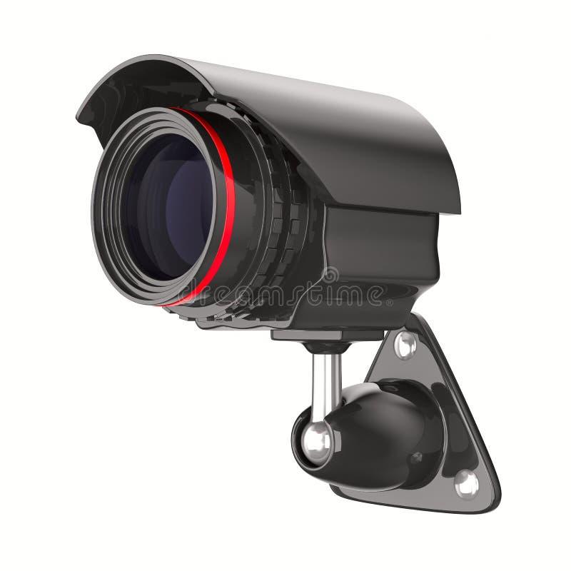 3d背景照相机查出的证券白色 库存例证