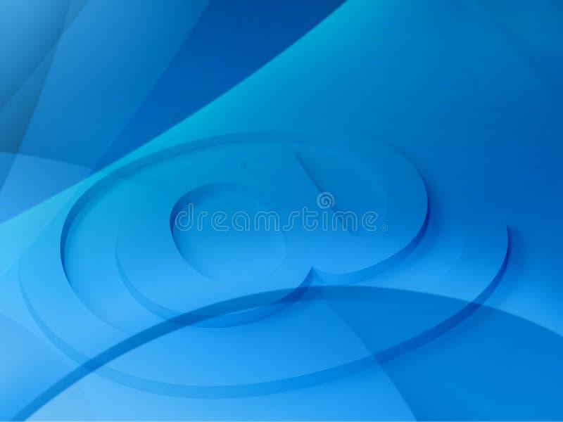 3d背景电子邮件符号 库存例证