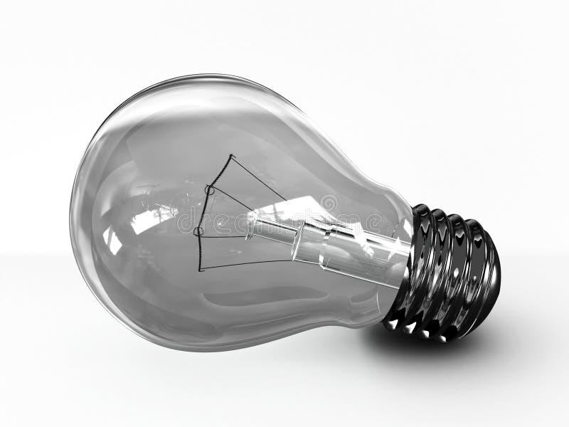 3d背景电灯泡查出的轻的白色 库存例证