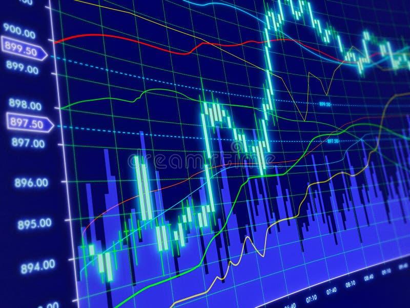 3d背景绘制股票 库存例证