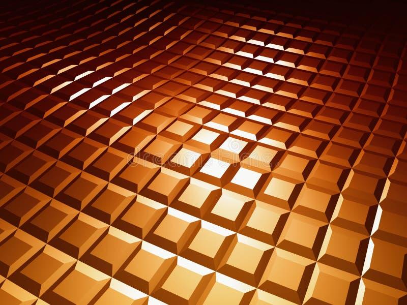 3d背景褐色模式正方形 库存例证