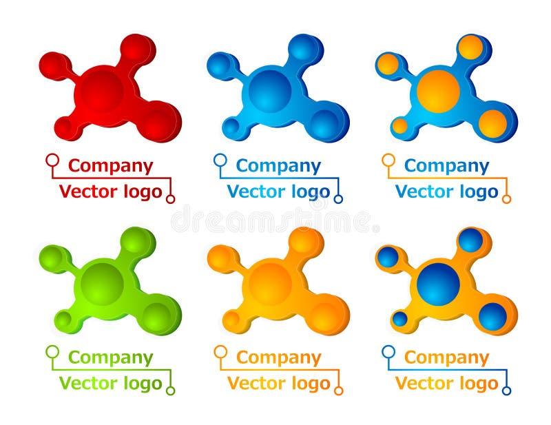3d色的徽标分子 皇族释放例证