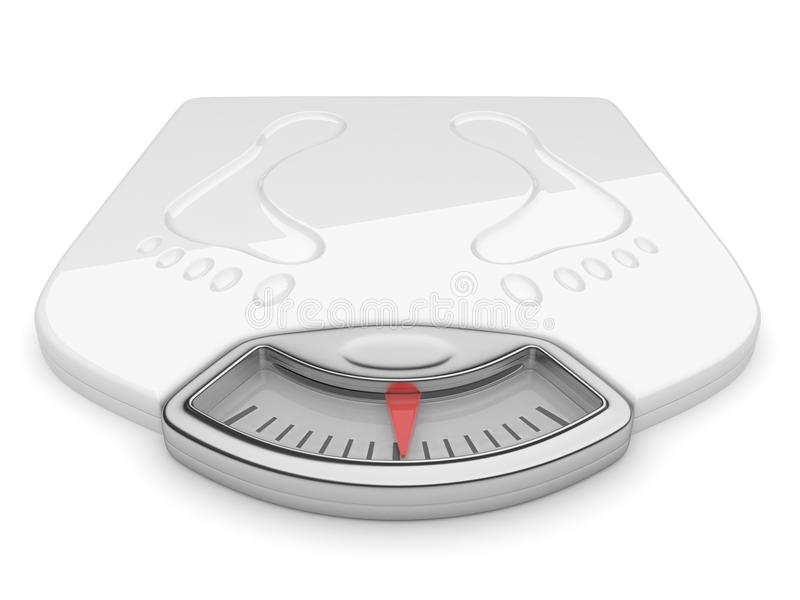 3d节食查出的缩放比例白色的背景 向量例证