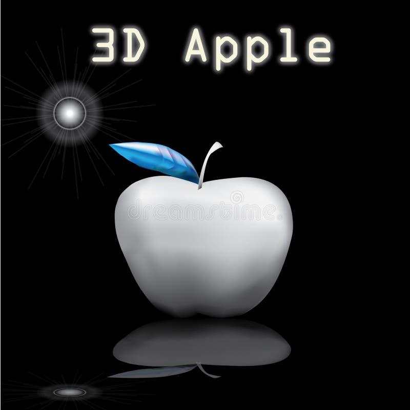 3d苹果技术 免版税库存照片