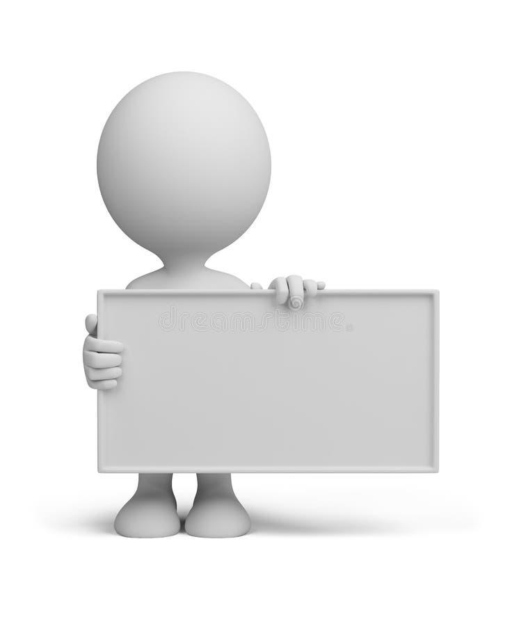 3d董事会空的人员 库存例证