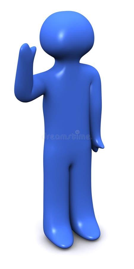 3d蓝色人 库存例证