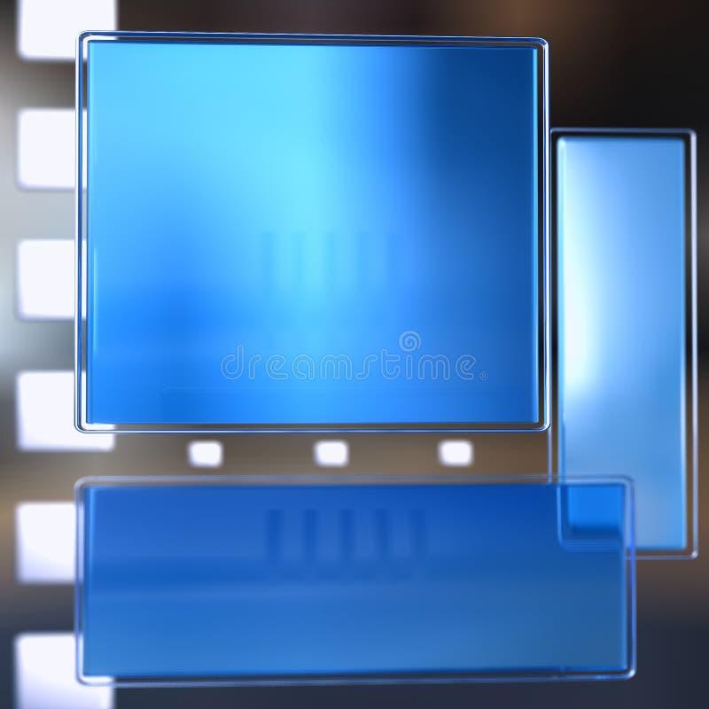 3d蓝色界面 向量例证