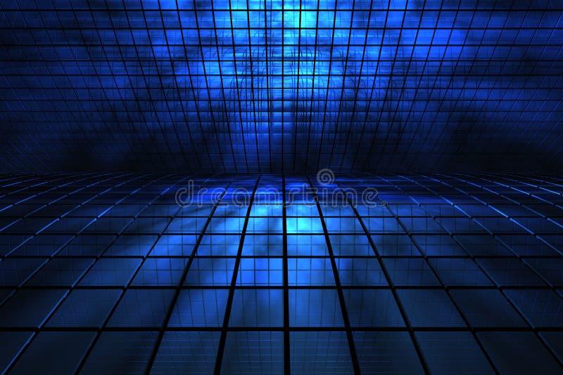 3d蓝色空间 库存例证
