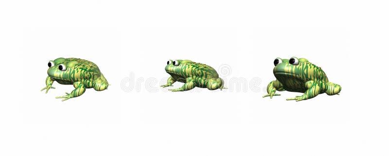 3D蟾蜍 皇族释放例证