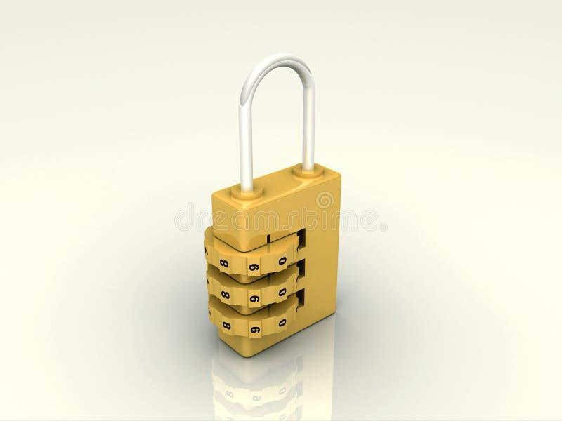 3d被回报的锁定编号 皇族释放例证
