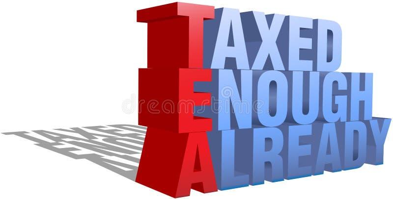 3d足够的当事人已经纳税茶字 皇族释放例证