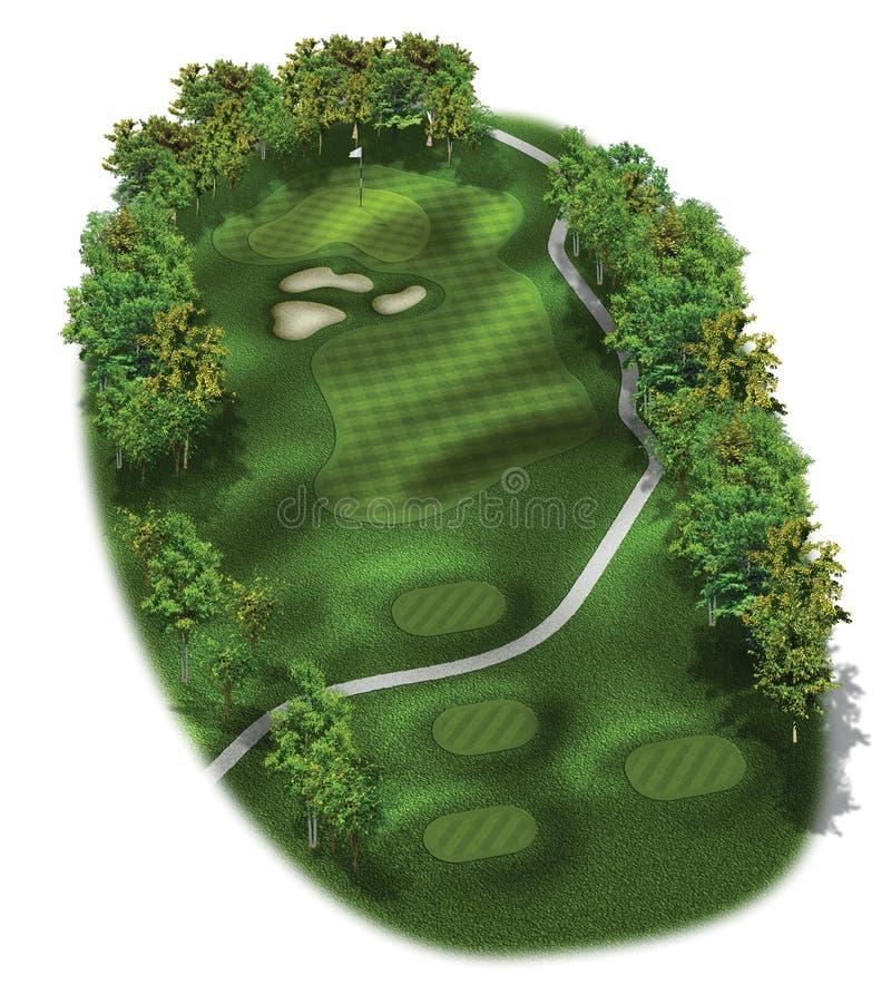 3d路线高尔夫球漏洞格式 皇族释放例证