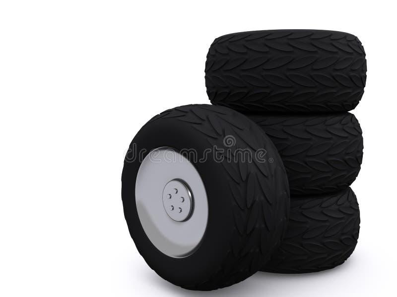 3d车轮 向量例证
