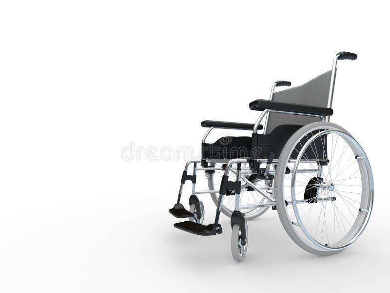 3d轮椅 皇族释放例证