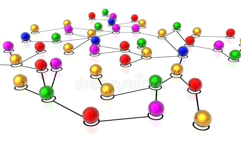 3d连接数网络 皇族释放例证