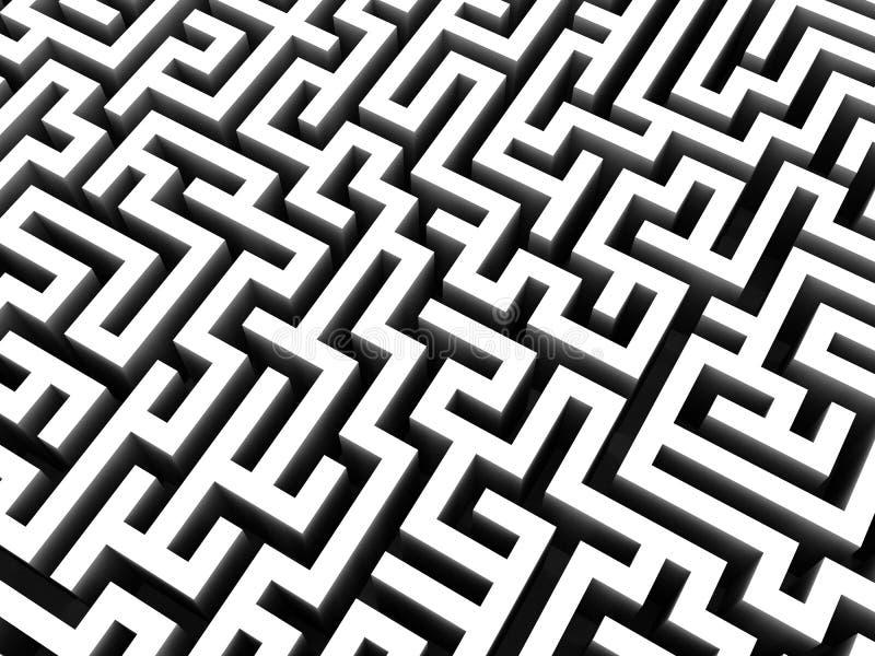 3d迷宫 向量例证